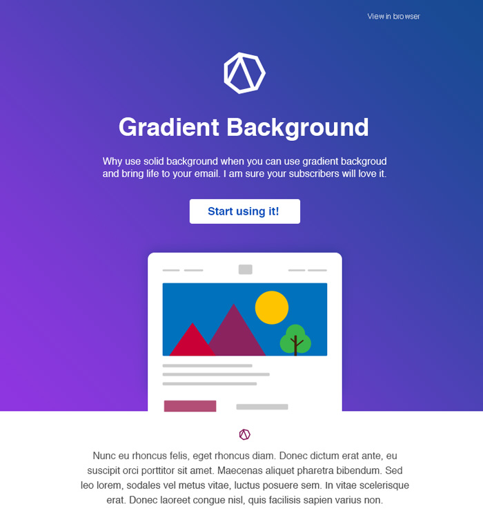 Gradient Background For Your Email Brew Email